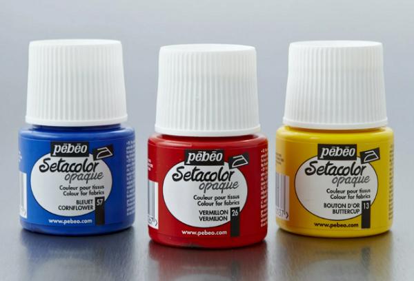 Набор красок для ткани Ребео