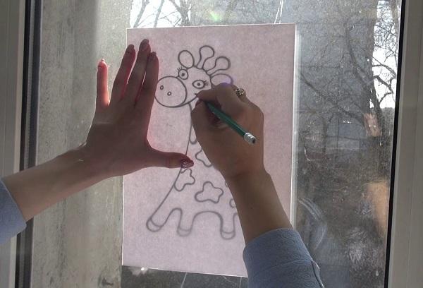 Перенос рисунка на окне
