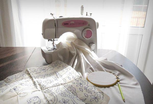 Ткань и машинка
