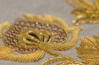 Вышивка золотой канителью